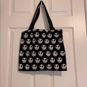 Jack Skellington black canvas bag.